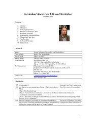 Curriculum Vitae Jeroen J. G. van Merriënboer - Maastricht University