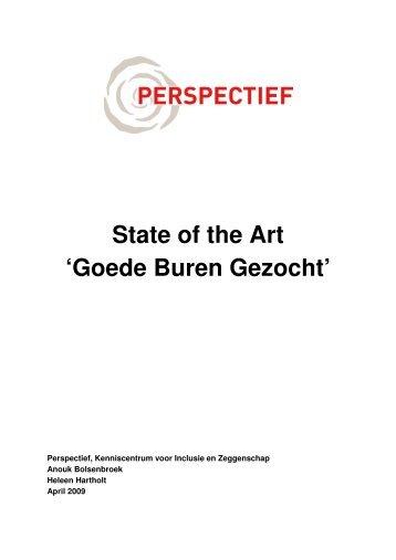 Eindverslag State of the Art Goede Buren Gezocht - Perspectief