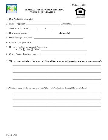 Homeless Third Party Verification Form - Perspectives Family Center