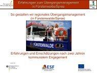 Forum 1 RÜM Fürstenwalde - Perspektive Berufsabschluss