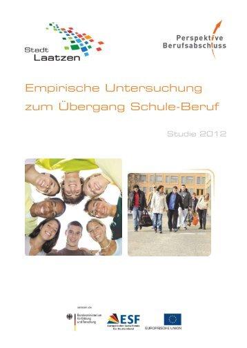 empirische Untersuchung zum Übergang Schule-Beruf, Studie 2012