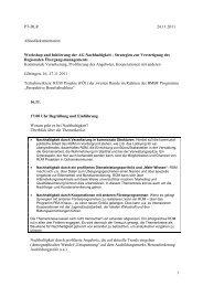 Dokumentation des Workshops Nachhaltigkeit (11/2011)