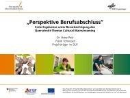 Ausbildung und Integration - Perspektive Berufsabschluss