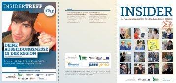 Elternfaltblatt zum Insiderkatalog 2013 - Perspektive Berufsabschluss