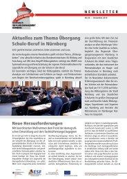 Aktuelles zum Thema Übergang Schule-Beruf in Nürnberg