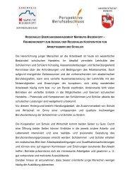 Rahmenkonzept zum Ausbau der regionalen Kooperation von ...