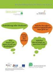 Berufswahlbegletung für Eltern von A-Z, Juli 2013 - Perspektive ...
