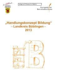 Handlungskonzept Bildung Landkreis Böblingen 2013 - Perspektive ...