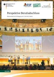 Dokumentation der Fachtagung vom 4.6.2013 in Berlin - Perspektive ...