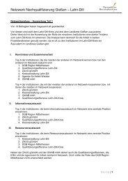 Auswertung der Netzwerkanalyse Teil 1 - Perspektive Berufsabschluss