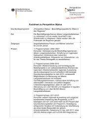 Factsheet zum Bundesprogramm - Perspektive 50plus