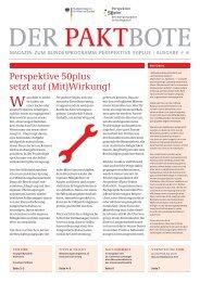 Perspektive 50plus setzt auf (Mit)Wirkung!