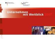 Broschüre Unternehmen mit Weitblick 2007 - Perspektive 50plus
