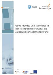 Good Practice und Standards in der Nachqualifizierung für die ...