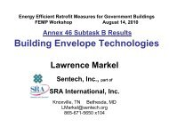 Energy Efficient Technologies for Buildings – New and Retrofits 6th ...