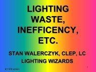 Lighting, Waste, Inefficiency, Etc.