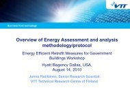 Overview of Energy Assessment and analysis - The PERTAN Group