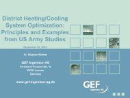District Heating/Cooling System Optimization - The PERTAN Group