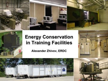 Energy Conservation in Training Facilities