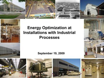 Energy Optimization at Installations with Industrial Processes
