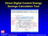 Direct Digital Control Energy Savings--Calculation Tool