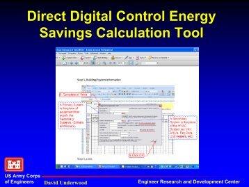 Direct Digital Control Energy Savings--Calculation Tool
