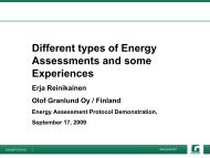 Different Types of Energy Assessments and Some Experiences