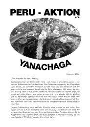 Rundbrief vom Dezember 2006 - Peru-Aktion