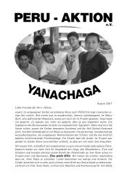 Rundbrief vom August 2007 - Peru-Aktion