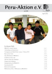 Download des Rundbriefes vom Aprl 2012 - Peru-Aktion
