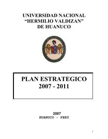 PLAN ESTRATEGICO 2007 - 2011