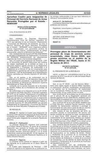 Cuadro de Asignación al Personal - Portal del Estado Peruano