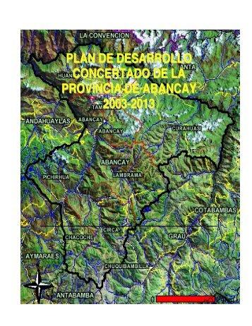 plan de desarrollo concertado de la provincia de abancay 2003-2013