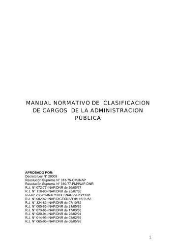 Clasificador de Cargos - Hospital Nacional Arzobispo Loayza
