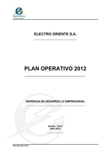 PLAN OPERATIVO 2012 - Portal del Estado Peruano