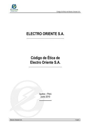 Codigo de Etica - Portal del Estado Peruano