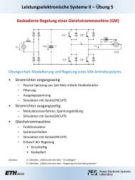 Gleichstrommaschine - Power Electronics Systems Laboratory