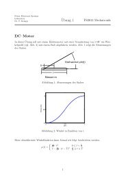 ¨Ubung 1 DC–Motor - Power Electronics Systems Laboratory