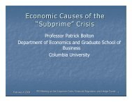 "Economic Causes of the ""Subprime"" Crisis - PES"