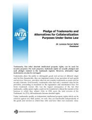 Pledge of trademarks INTA Annual Meeting 2009 - Pestalozzi ...