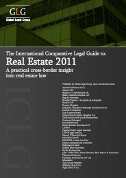 GLG Comparative Legal Guide 2011 Real Estate Switzerland