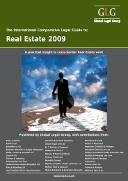 GLG Comparative Legal Guide 2009 Real Estate Switzerland
