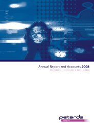 Annual Report and Accounts 2008 - Petards Group plc