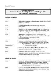 Programm der Delegationsreise des Unterausschusses Auswärtige ...