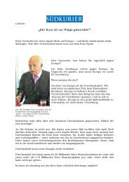 """""""Der Euro ist zur Plage geworden"""" - Dr. Peter Gauweiler"""