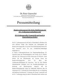 Bundesverfassungsgericht: Keine Ratifizierung der EU-Verfassung ...