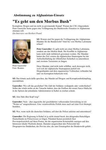"""Es geht um den Morbus Bush"" - Dr. Peter Gauweiler"
