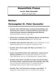 Beiträge/Artikel Dr - Dr. Peter Gauweiler