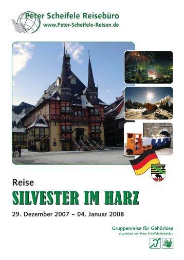 SILVESTER IM HARZ - Peter Scheifele Reisen Mainz