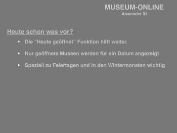 MUSEUM-ONLINE - Peter Koch Consulting